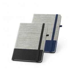 Caderno com Capa em Palha e Algodão Canvas