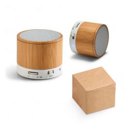 Caixa de Som em Bambu com Microfone