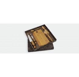 Kit Para Bar em Bambu com 6 peças