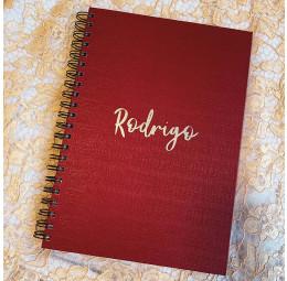 Caderno A4 Personalizado com Nome