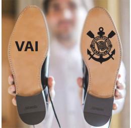 Adesivo para Sola de Sapato - Vai Corinthians
