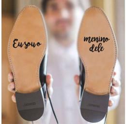Adesivo para Sola de Sapato - Eu Sou o Menino Dele