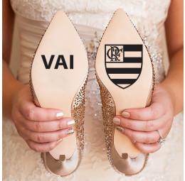 Adesivo para Sola de Sapato - Vai Flamengo