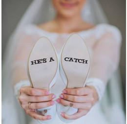 Adesivo para Sola de Sapato - He's a Catch