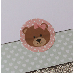 Adesivo Urso de Laço