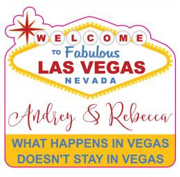 Adesivo de Mala Viagem - Casamento em Vegas