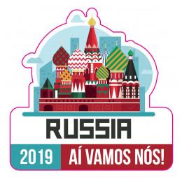 Adesivo de Mala Viagem - Russia 2019 (SEM PERSONALIZAÇÃO)