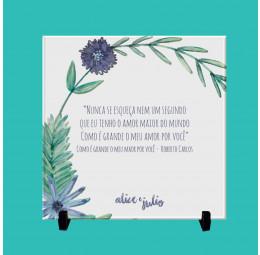 Azulejo Personalizado - Flores no Campo