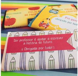 Barra de Chocolate para Dia dos Professores
