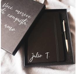 Kit Caderno Personalizado e Caneta