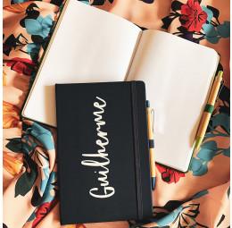 Kit com Caderno Grande e Caneta em Bambu Fun Personalizados