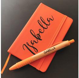 Kit Caderno Pequeno e Caneta Bambu Colors Personalizados