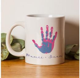 Caneca de Cerâmica - Mãos - Mãe