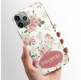 Capa para celular com nome - Floral