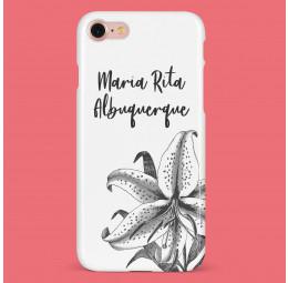 Capa para celular com nome - Orquídea