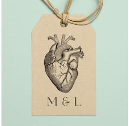 Carimbo Monograma Heart