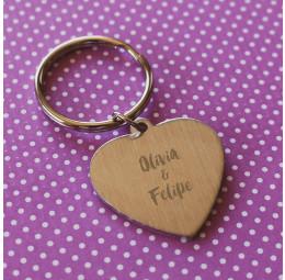 Chaveiro Coração Simples Folhagens