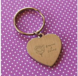 Chaveiro Coração Simples Rosa