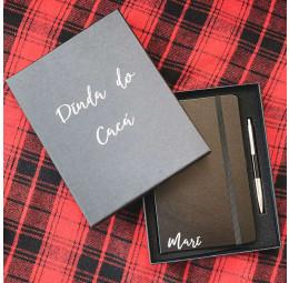 Kit Caderno Personalizado e Caneta - Dindos