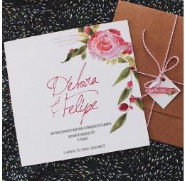 Convite Rosas no Campo