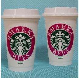 Kit Copo Starbucks Melhores Amigas - 2 copos