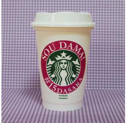 Copo Starbucks Dama