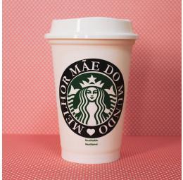 Copo Starbucks Melhor Mãe do Mundo