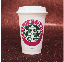 Copo Starbucks Bride to Be
