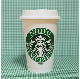 Copo Starbucks Noivo Palmeirense