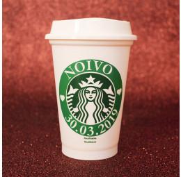 Copo Starbucks Noivo com Data do Casamento