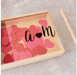 Caixa de Memórias Casal - Monograma