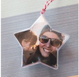 Estrela para Árvore de Natal com Foto