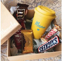 Kit Páscoa com Copo e chocolates
