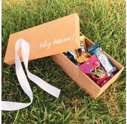 Kit Páscoa com caixa personalizada e bombons