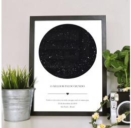 Quadro Mapa de Estrelas - Pai