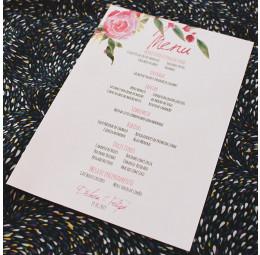 Menu Simples Rosas no Campo