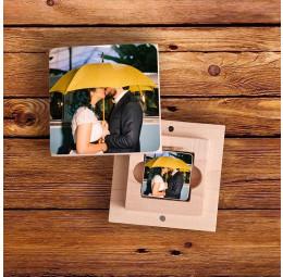 Pen Drive em Madeira Personalizado com Foto - Casamento