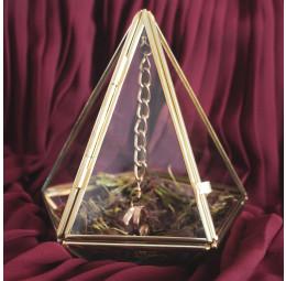 Porta Alianças de Vidro - Triângulo