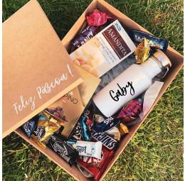 Kit Páscoa com Garrafa Retrô e chocolates e bombons diversos