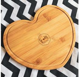 Tábua de bambu Coração  - Fluffy
