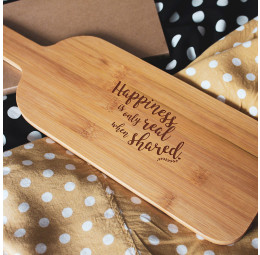 Tábua para Aperitivos Personalizada - Happiness