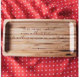 Travessa em Bambu Personalizada - Bons Amigos