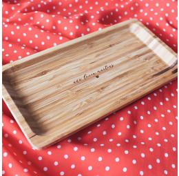 Travessa em Bambu Personalizada - Nome Manuscrito