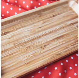 Travessa em Bambu Personalizada - Nome Elegance