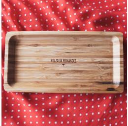 Travessa em Bambu Personalizada - Simples