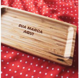 Travessa em Bambu Personalizada - Sua Marca Aqui