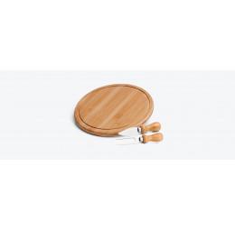 Conjunto para Queijo em Bambu e Inox com 3 Peças